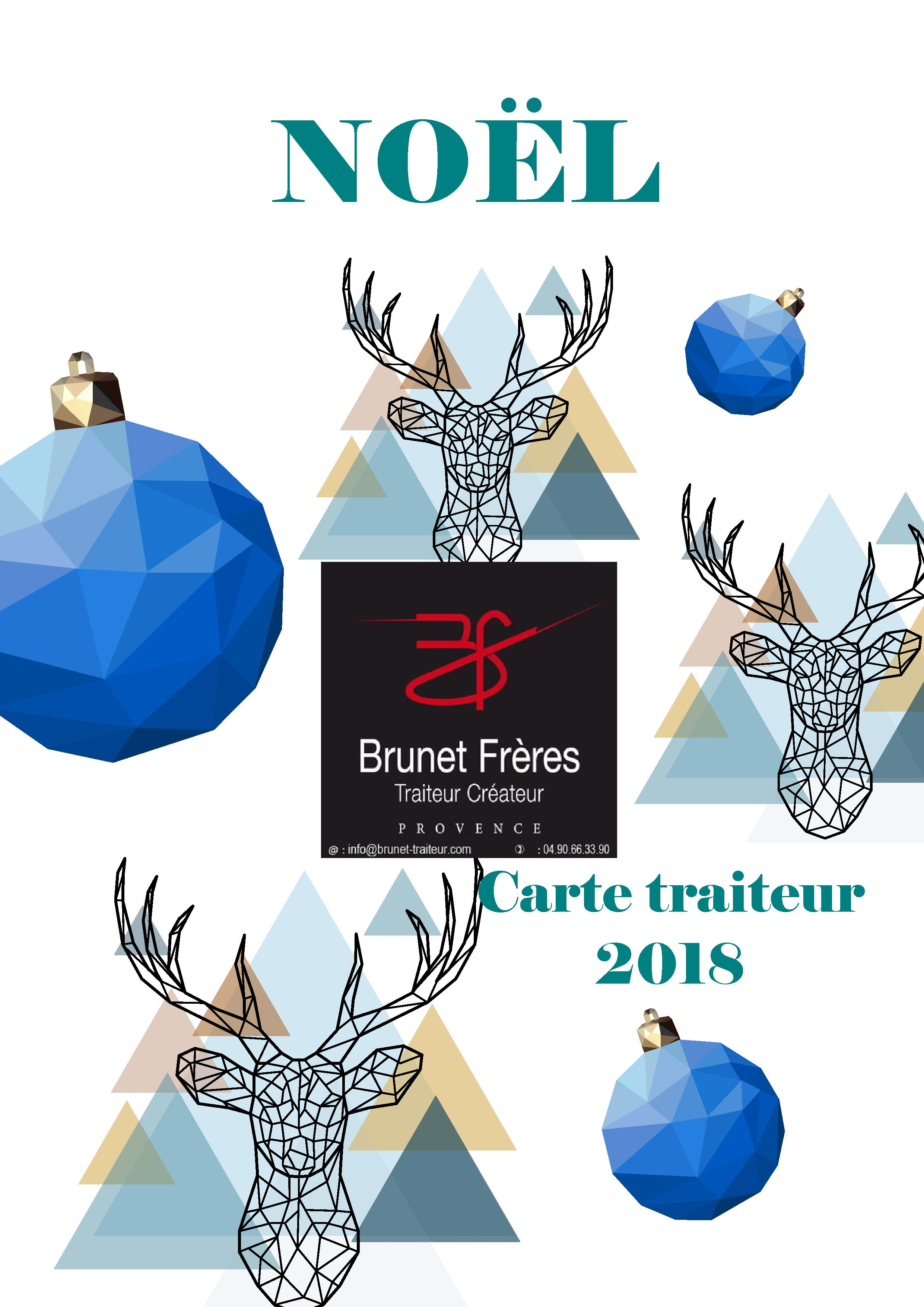 NOEL2018 CARTE TRAITEUR